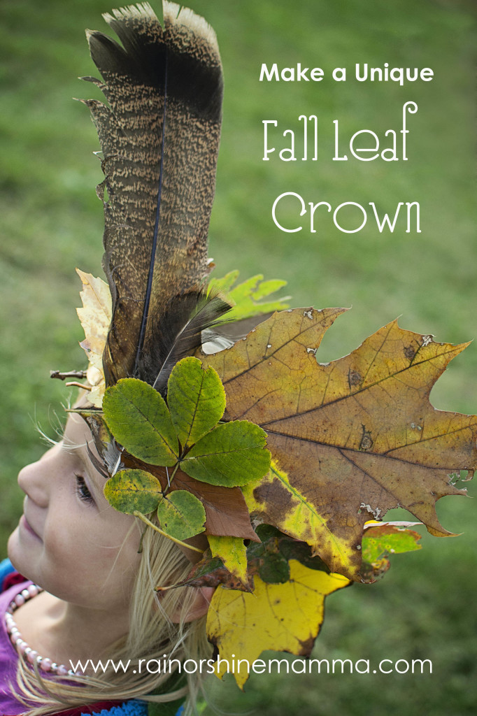 Fall Leaf Crown. Rain or Shine Mamma
