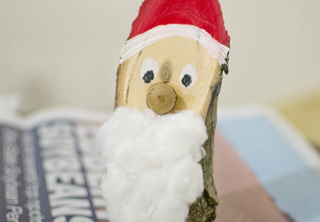 Nature-Inspired Christmas Crafts: Making a Santa from a Piece of Wood
