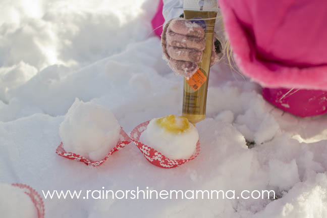 Got Snow? Make Snow Pastries. From Rain or Shine Mamma blog.