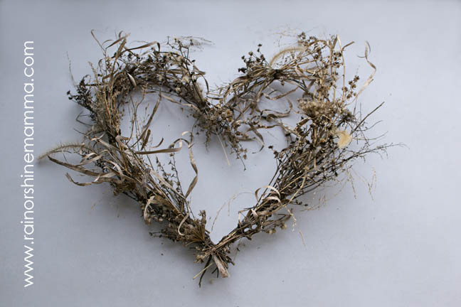 Valentine's Day Heart from Natural Materials