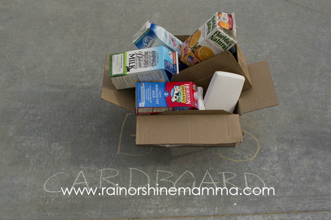 Recycling for Kids - A Fun and Simple Earth Day Activity. Rain or Shine Mamma