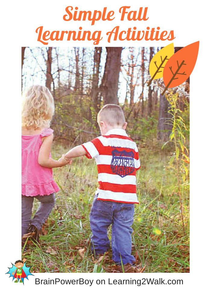 Simple Fall Learning Activities. #outdoorplayparty