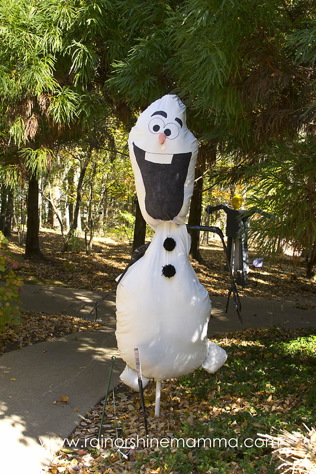Outdoor Play Party: Scarecrow Exhibit featuring Olaf at Cheekwood Garden
