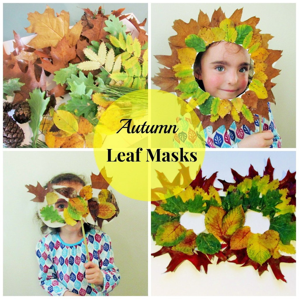 Leaf Masks from Mommy Loves Trees. #outdoorplayparty