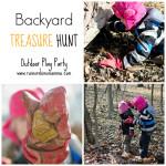 Backyard Treasure Hunt. Rain or Shine Mamma