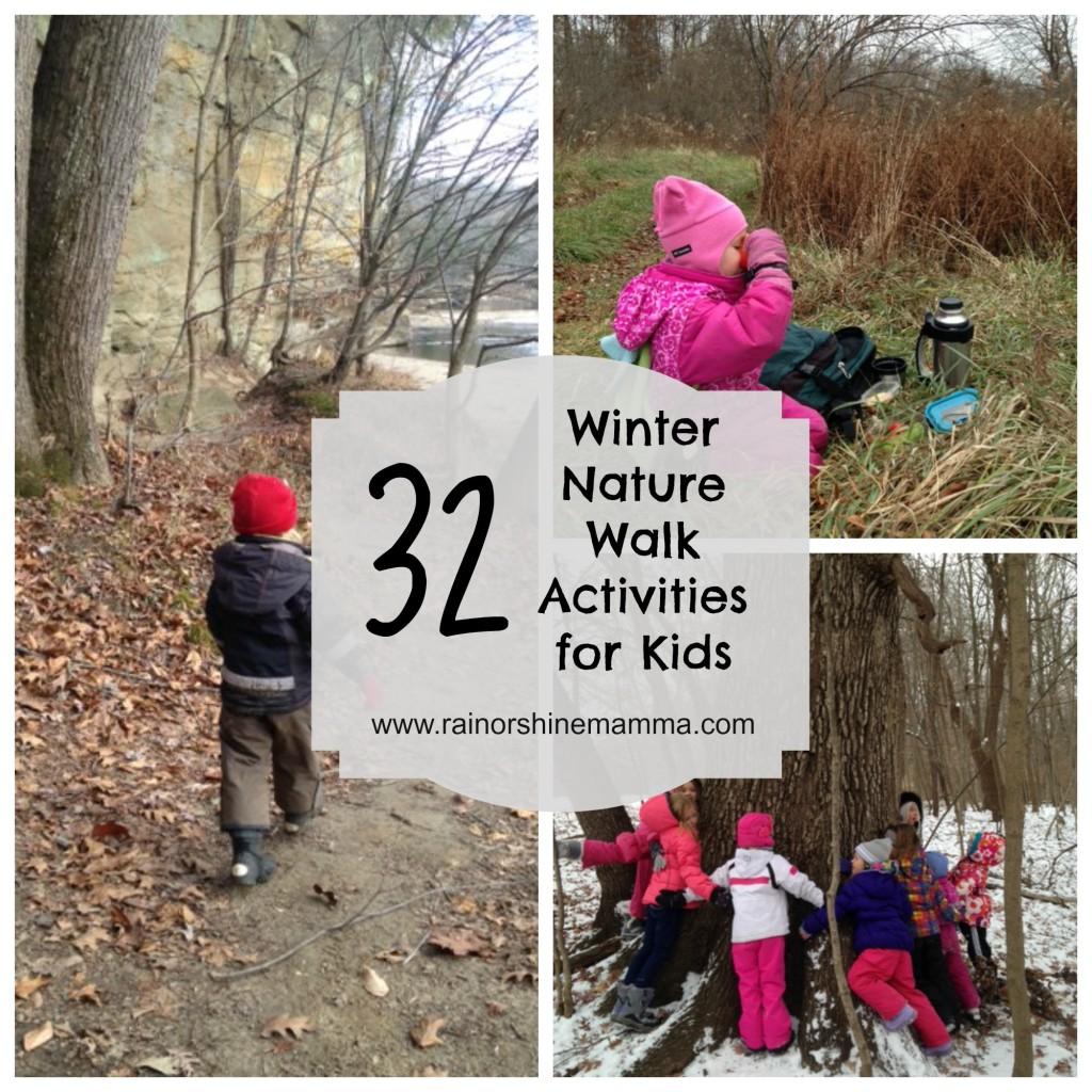 32 fun winter nature walk activities for kids rain or shine mamma. Black Bedroom Furniture Sets. Home Design Ideas