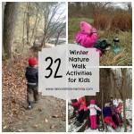 32 Fun Winter Nature Walk Activities for Kids. Rain or Shine Mamma