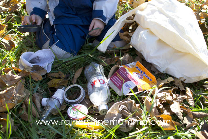 DIY Forest School Activity: Does It Belong In Nature? Rain or Shine Mamma