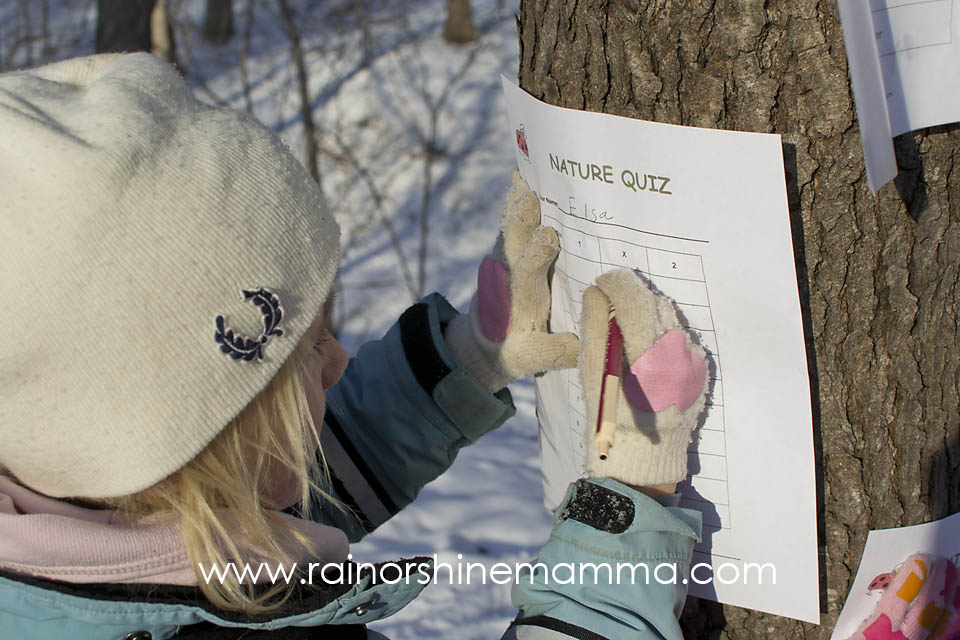Nature Quiz with Free Printable. Rain or Shine Mamma
