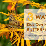 Three Ways Kids Can Help Butterflies. Rain or Shine Mamma