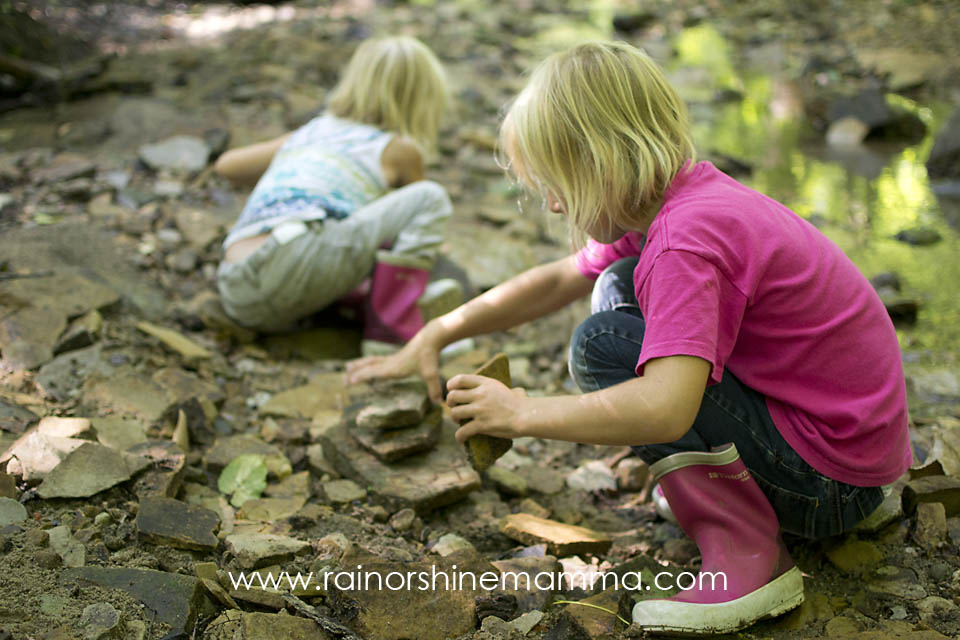 DIY Forest School VI: Rock Stacking. Rain or Shine Mamma.
