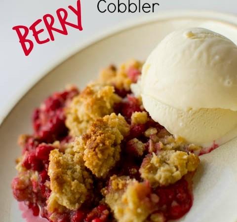 Gluten-Free Scandinavian Berry Cobbler