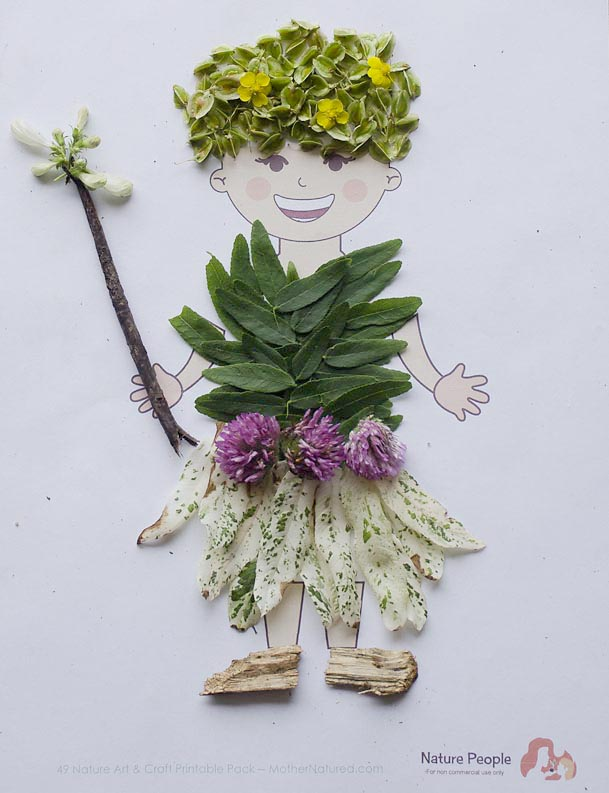 Nature People and 30+ Other Nature Craft Printables. Rain or Shine Mamma.