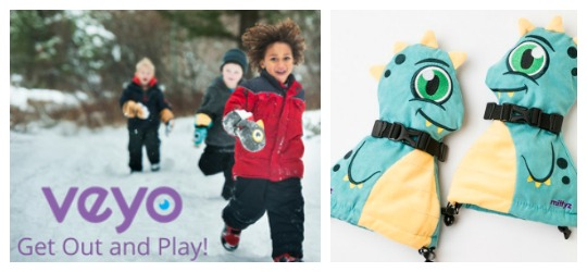 Veyo Kids Mittyz. 2017 Holiday Gift Guide for Outdoorsy Kids. Rain or Shine Mamma