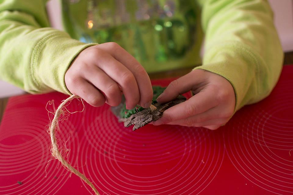 DIY Christmas Ornaments from Bark (Natural and Kid-Friendly). Rain or Shine Mamma