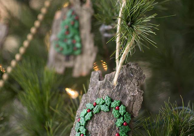 DIY Christmas Ornaments from Bark (Natural and Kid-Friendly)