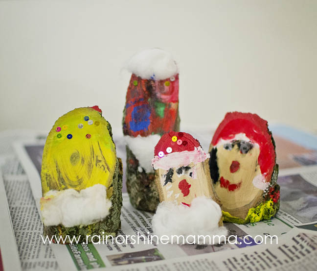 Nature-Themed Christmas Craft: Make a Santa from a Piece of Wood