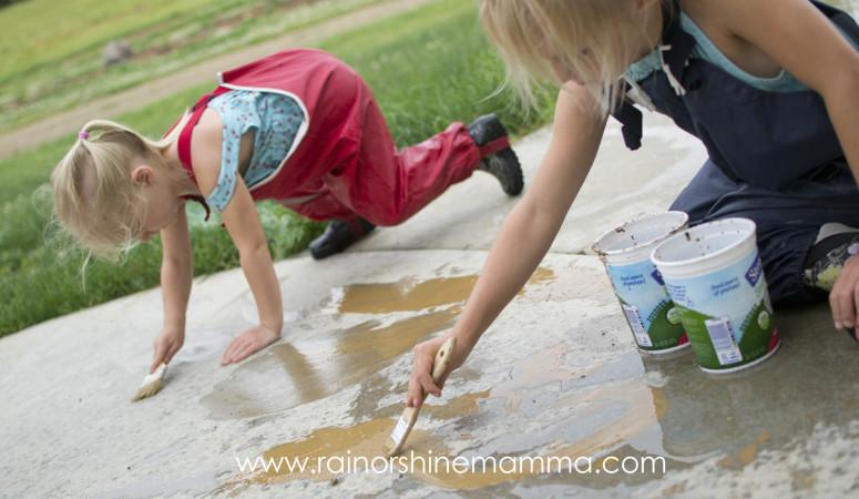 Rainy Day Fun: Painting With Mud!
