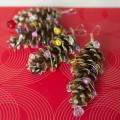 Easy Upcycled Pine Cone Ornament. Rain or Shine Mamma