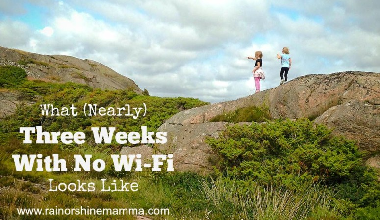 What (Nearly) Three Weeks Without Wi-Fi Looks Like