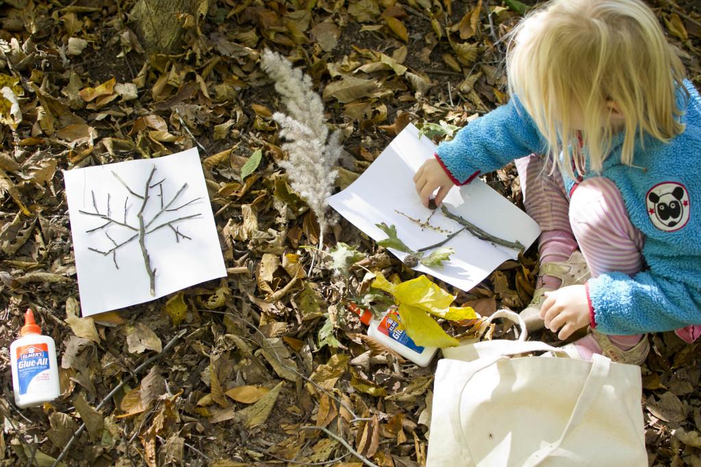 Fall nature craft for kids. Rain or Shine Mamma