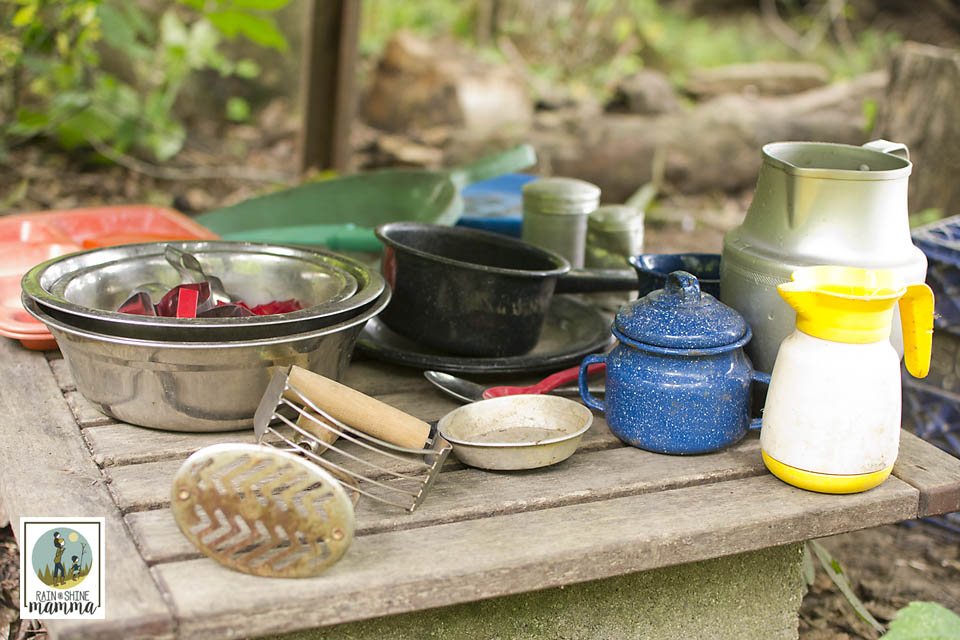 Inspiration from Our Mud Kitchen. Rain or Shine Mamma
