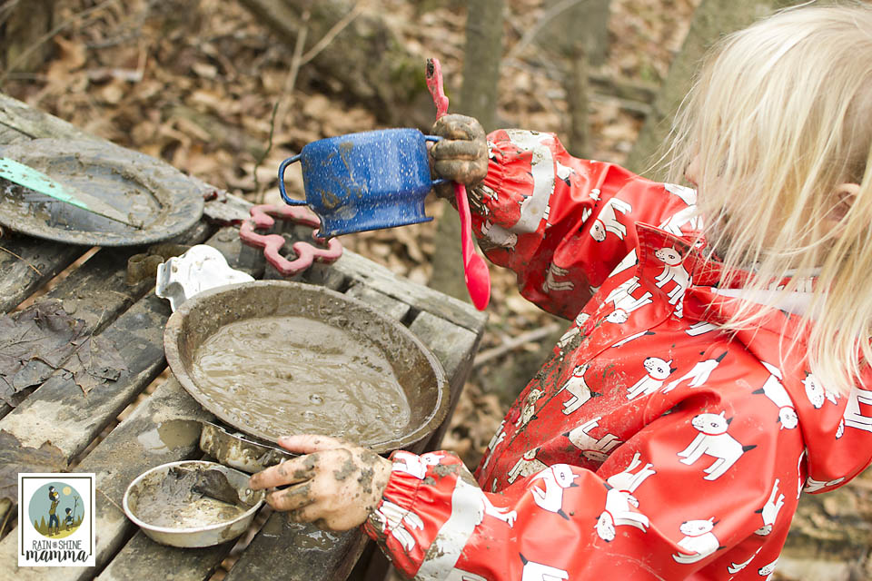 Inspiration from Our Mud Kitchen. Rain or Shine Mamma.
