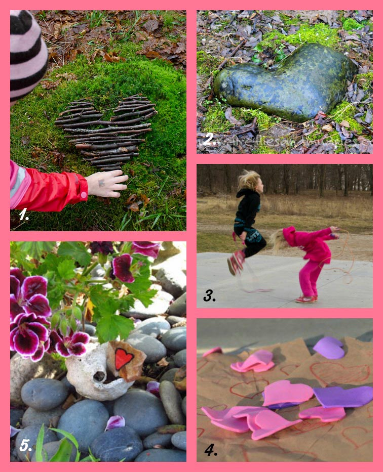 15 Nature-Inspired Valentine Crafts, Activities and Cards for Kids. Celebrate Valentine's Day with these fun and kid-friendly outdoor activities. Land art, outdoor heart hunt and more! Rain or Shine Mamma.