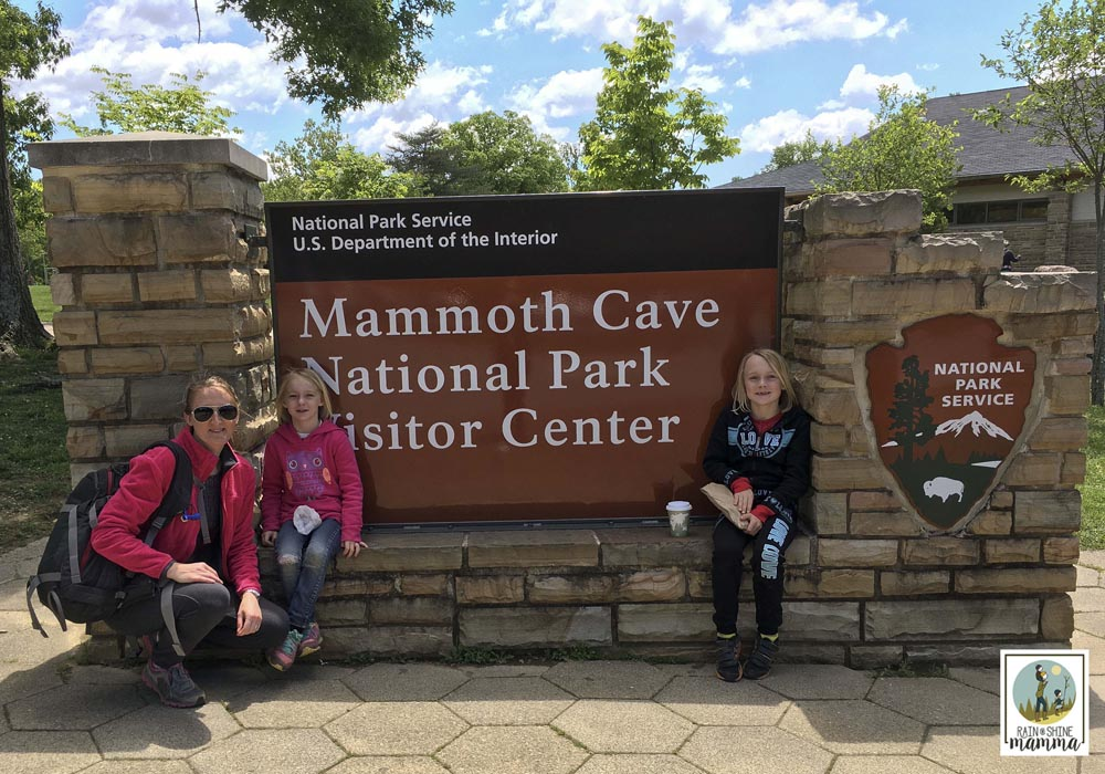 Family camping in Mammoth Cave National Park. Rain or Shine Mamma.