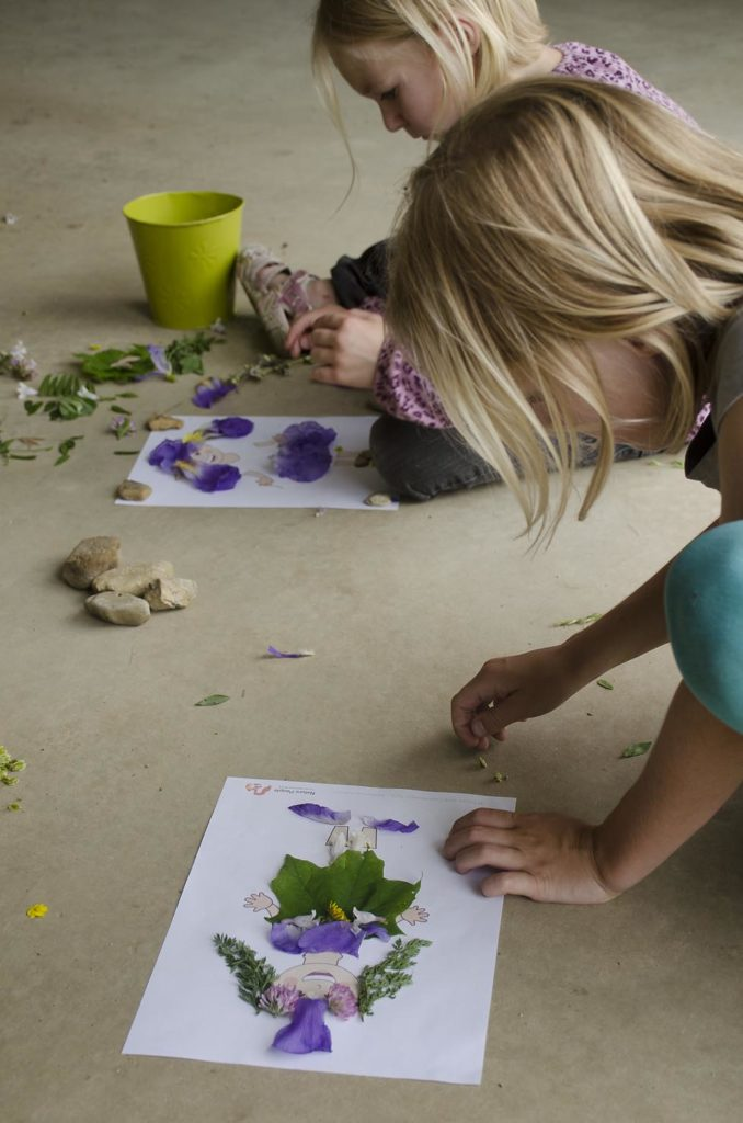 Nature People Craft + Nature Craft Printable. Rain or Shine Mamma.