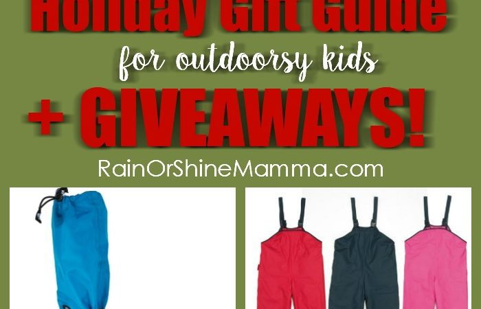 Holiday Gift Guide for Outdoorsy Kids + Giveaways!