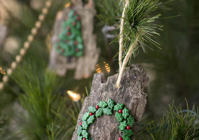 DIY Christmas Ornaments from Bark (Natural and Kid-Friendly)